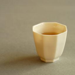 八方杯 高款 仿古 象牙白 品茗杯 茶席搭配