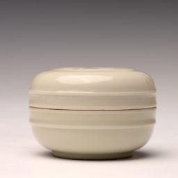 文人茶室|草木灰釉海水鱼纹小香合 香粉盒 印泥盒清雅古拙