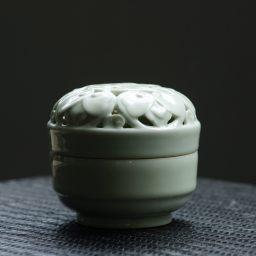 文人茶室|全手工青釉宋式盒熏 香炉