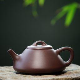 文人茶室专属定制 摹古彭年石瓢 古雅稳重 侍茶利器 紫泥 150cc