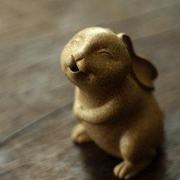 嫦娥姐姐的玉兔 朱亚军作品 高5cm