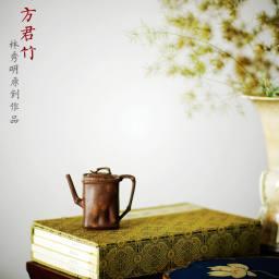 林秀明庚子初夏作品 四方小君竹 端庄俊秀 160cc 耐品好玩